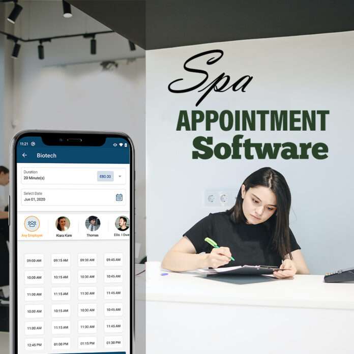 spa appointment booking software